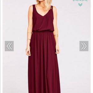 Show me your mumu bridesmaids dress with sash